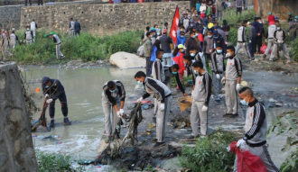 Bishnumati River cleaning campaign begins