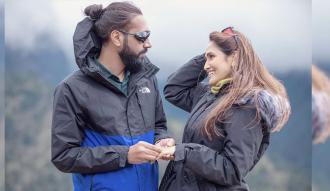 Singer Indira Joshi reaches Khumbu by helicopter, gets engaged