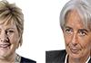 Erna Solberg and Christine Lagarde