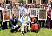 Jan Salter donates paintings to Maiti Nepal
