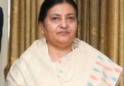 President Bhandari presenting policies and programs at parliament
