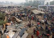 Birgunj Sub Metropolis bulldozes vegetable vendors' flimsy stalls