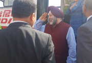Newly appointed Indian Ambassador Puri arrives in Kathmandu