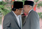 PM Dahal briefs Oli about agreement with Federal Alliance