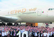 Etihad Airways welcomes 10th Airbus A380