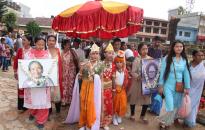 Folks observe Gaijatra festival in Palpa (Photo feature)