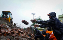 IN PICTURES: Eastern wall of Singha Durbar collapses