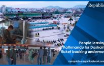 VIDEO: People start leaving Kathmandu for Dashain, ticket bookings underway