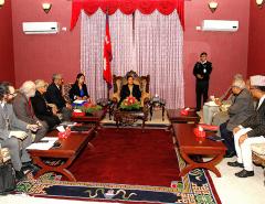 Envoy Parmley pays courtesy call to Prez Bhandari
