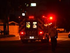 7 people treated, 8 cars burn in Disneyland parking fire