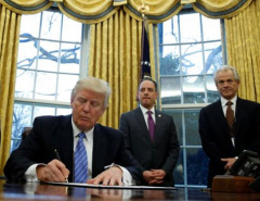 Trump pulls U.S. out of Pacific trade deal, loosening Asia ties