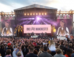Grande returns to Manchester to honor victims with benefit