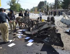 Suicide car bomb in southwest Pakistan kills 11, wounds 20