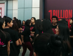 Flash mobs in Bhat-Bhateni to raise awareness against VAW