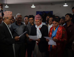 Newly elected Lalitpur mayor and deputy mayor sworn in