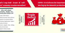 How COVID-19 provides an opportunity to chart a self-reliant economy