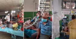 Hospital's corona ward chock-full of patients fighting hard for life
