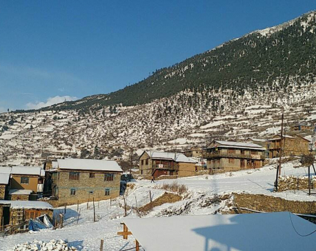 In Pictures: Year's first snowfall in Jumla, Humla