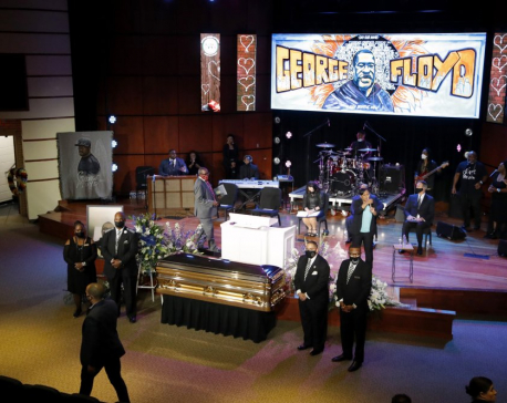 `Get your knee off our necks!': Floyd mourned in Minneapolis