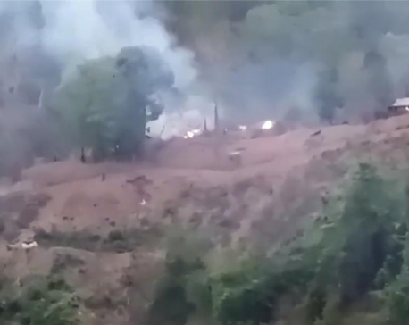 Reports: Myanmar airstrikes target ethnic forces on 2 fronts