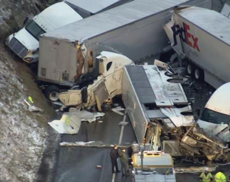 5 dead, 60 hospitalized in Pennsylvania Turnpike crash