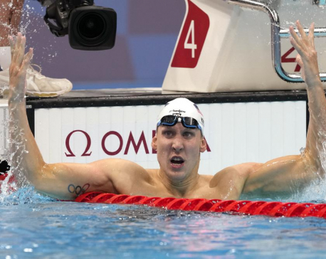 Powerhouse US swim team shines with 6 medals, 1st US gold
