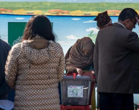 Voting at Bhaktapur