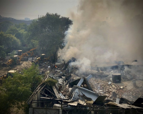 Battery factory collapses in fire in New Delhi, injuring 14