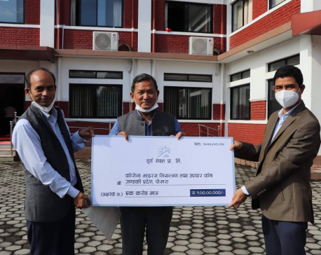 Surya Nepal provides Rs 10 million to each province to fight COVID-19