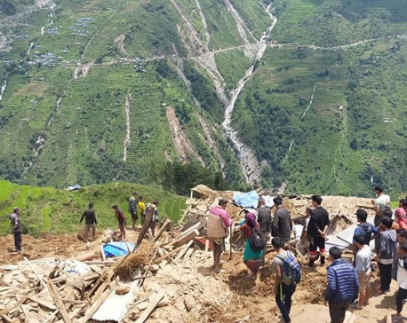 UPDATE: Five bodies recovered from landslide-hit Lidi, Sindhupalchowk
