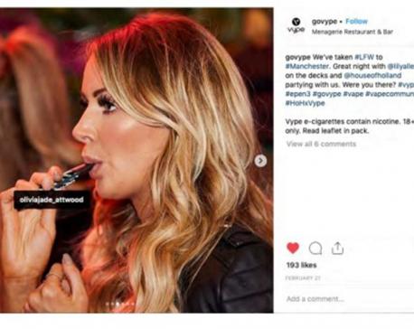UK bans e-cigarette ads on Instagram, other social media