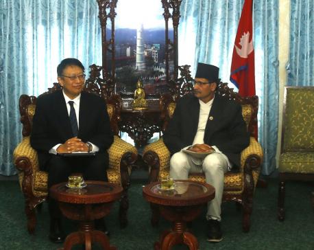 Japanese Ambassador calls on speaker Sapkota