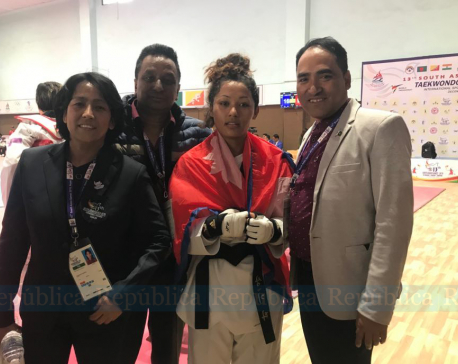 Sangita Bashyal bags gold in taekwondo