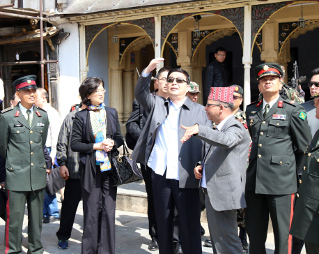 Chinese Defence Minister Chang visits Basantapur Durbar Square (photo feature)