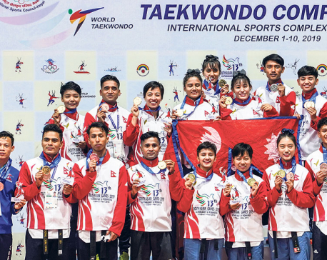 Nepal claims seven golds in poomsae