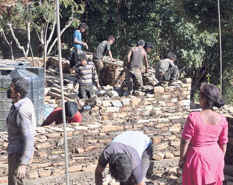 Reconstruction work gathers pace in Sindhupalchowk