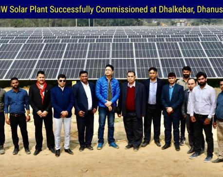 Nepal's first 10 MW solar plant evacuates power in Dhalkebar grid