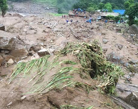 7 houses face risk of landslides, agricultural field of 30 families destroyed