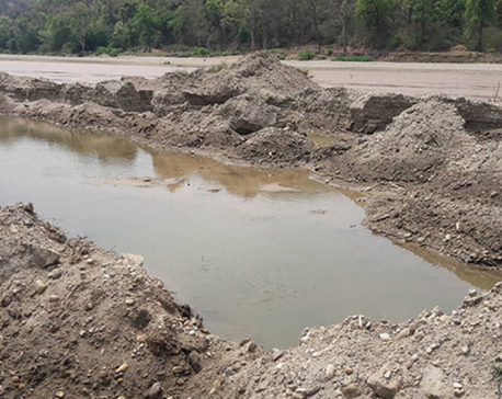 Four vehicles involved in excavating sand, pebbles in Myagdi river seized