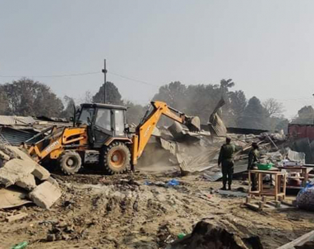 KMC starts using dozers in its drive to clear illegal structures built in Tundikhel