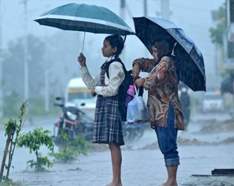 Rainfall predicted across Nepal for next three days