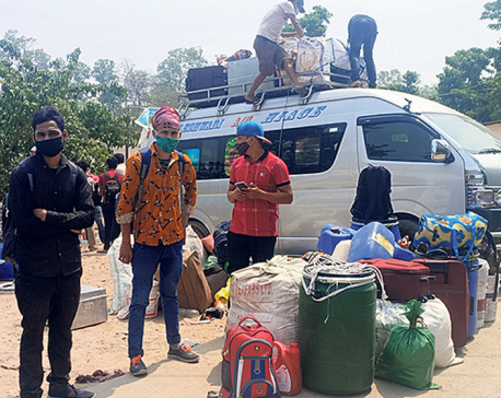 Nepali migrant workers returning home without tests from India