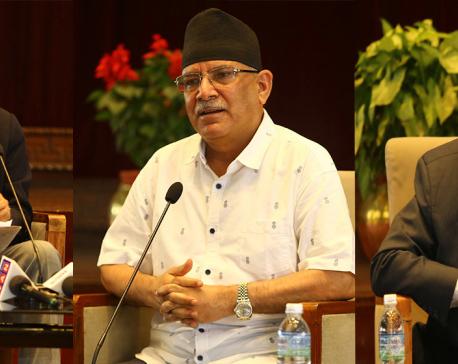 Deuba, Dahal, Nepal meet at Baluwatar