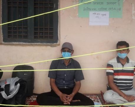 People's representative on hunger strike demanding electricity