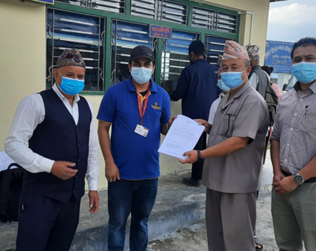 One Heart provides medical supplies worth Rs 1.2 million to Taplegunj district hospital and health office