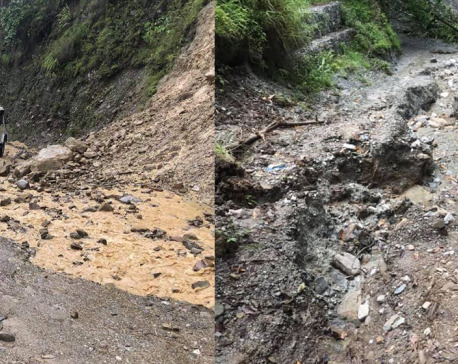 Roadway completely damaged as local government remains unaware