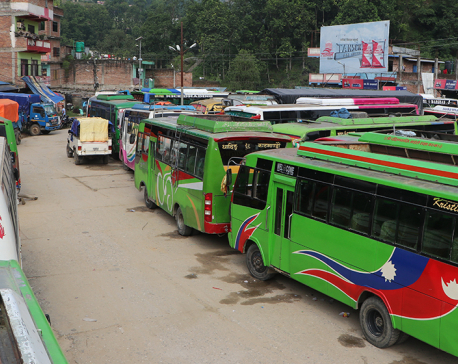 Public transport to remain shut in Dhading, entrepreneurs demand increase in fares