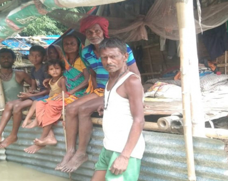 Flood damages river embankment in Saptari, 300 homes displaced