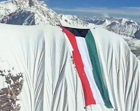 Kuwaiti flag that was hoisted on Mt Amadablam sent back to Kuwait secretly