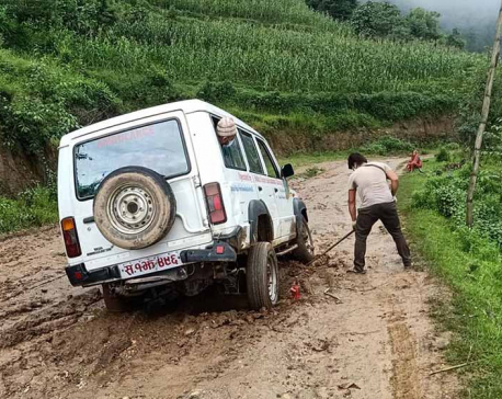 Ambulance service severely affected due to muddy roads